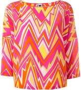 M Missoni zigzag print blouse - women - Silk - L