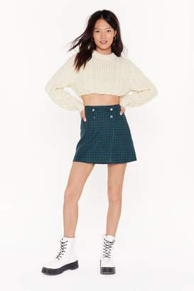 Nasty Gal Womens Vintage Double Tap Check Mini Skirt - green - S