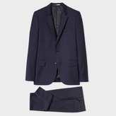 Paul Smith Men's Mid-Fit Navy Blue Wool Suit