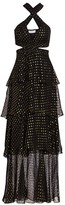 A.L.C. Lita Silk-Blend Metallic Dot Print Tiered Dress