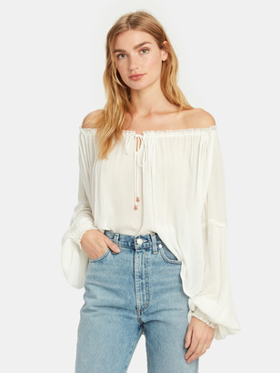 Free People Banda Front Tie Blouse