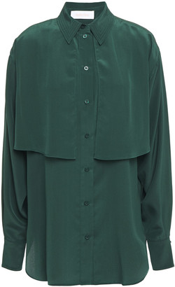 See by Chloe Layered Silk Crepe De Chine Shirt