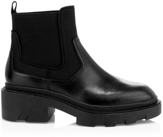 Ash Metro Lug-Sole Leather Combat Boots