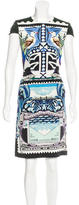 Mary Katrantzou Silk Stamp Print Dress