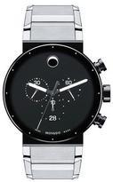 Movado Sapphire Synergy Chronograph Watch, Silver/Black