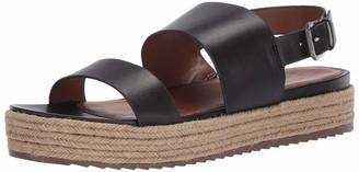 Naturalizer womens Patience Platform Espadrille Sandals Black Leather 8.5 M US