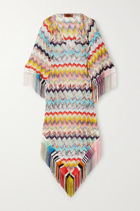 Missoni Mare Fringed Crochet-knit Midi Dress - White