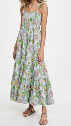 Tory Burch Printed Tie Shoulder Dress