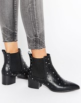 Missguided Studded Heeled Ankle Boots