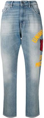 Love Moschino Side Print Boyfriend Jeans