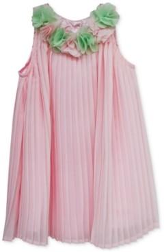 Blueberi Boulevard Baby Girls Pleated Flower Dress