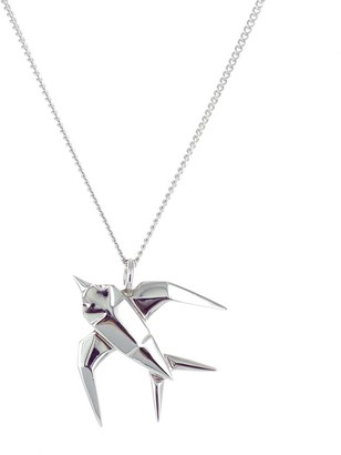 Origami Jewellery Mini Swallow Necklace Silver