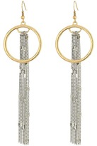 GUESS Long Fringe Chain with Ring Drop Earrings