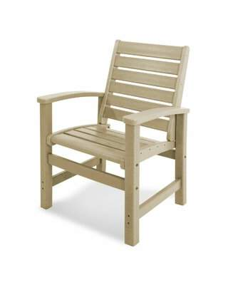 Polywoodâ® Signature Patio Dining Chair POLYWOODA Color: White