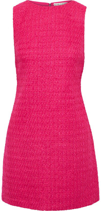 Alice + Olivia Clyde Boucle-tweed Mini Dress