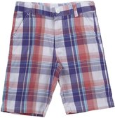 E-Land Kids Plaid Shorts (Toddler/Kids) - Heliotrope-12