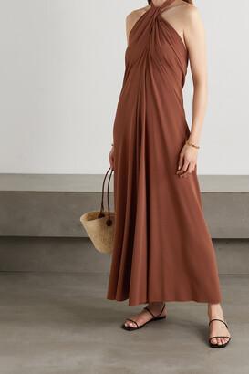 Eres Caro Convertible Stretch-jersey Halterneck Maxi Dress - Brown