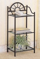 Coaster Home Furnishings Garden Plant/Phone Stand Corner Table, Black Wrought Iron