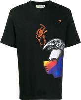 Diesel crew neck embroidered T-shirt