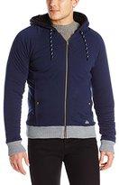 Buffalo David Bitton Men's Findom Long Sleeve Zip Up Sherpa Lined Fleece Jacket