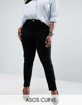 Asos Farleigh Slim Mom Jeans In Clean Black