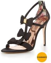 Ted Baker Appolini Bow Heeled Sandal - Black