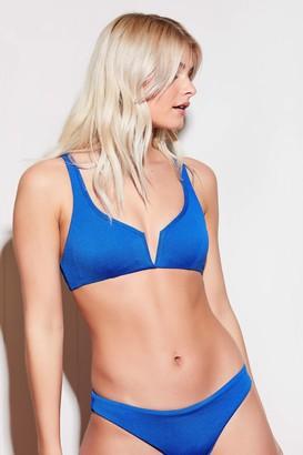 Ardene Reversible Floral Cutout Crop Bikini Top