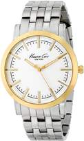 Kenneth Cole New York Men's KC9335 Slim Round Dial Yellow Gold Bezel Watch