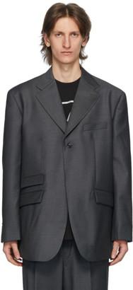 we11done Grey Single-Breasted Blazer