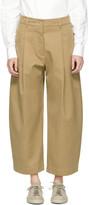 Studio Nicholson Ssense Exclusive Tan Bonnard Trousers