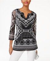 INC International Concepts Soutache-Trim Tunic, Only at Macy's