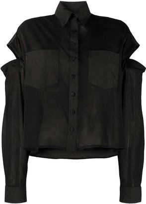 Andrea Ya'aqov Cut-Out Long-Sleeved Shirt