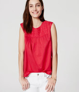 LOFT Petite Embroidered Shell