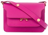 Marni Women's Fuchsia Leather Shoulder Bag.