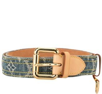 Louis Vuitton Pre-Owned Logo Denim Belt