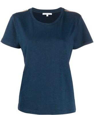 Patrizia Pepe chain shoulder embellishments T-shirt