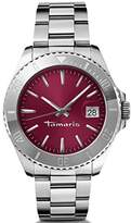 Tamaris Marina Women's Quartz Watch with Pink Dial Analogue Display and Silver Stainless Steel Bracelet