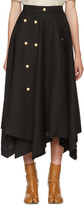 Loewe Black Gold Button Skirt