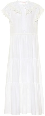 See by Chloe Cotton-voile midi dress