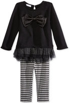 First Impressions 2-Pc. Bow Sweater & Houndstooth Leggings Set, Baby Girls (0-24 months), Only at Macy's