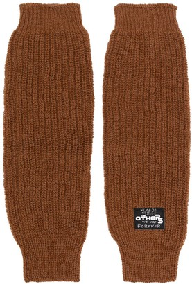 Raf Simons Logo Patch Knitted Gloves