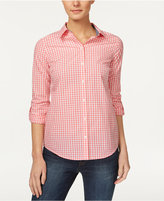 Charter Club Cotton Gingham-Print Shirt, Only at Macy's