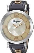 Salvatore Ferragamo Women's 'GANCINO DECO' Quartz Stainless Steel Casual Watch, Color: (Model: FG3070014)