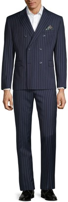 Tallia Standard-Fit Double-Breasted Pinstripe Suit