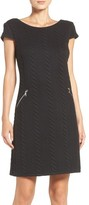 Chetta B Women's Textured Knit Shift Dress