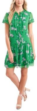 CeCe Ruffled Floral Yoryu Dress