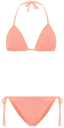 Hunza G Exclusive to Mytheresa Carmen crinkle triangle bikini