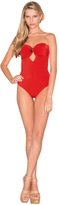 Caffe Swimwear - Bandeau One Piece In Red