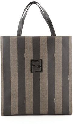 Fendi Vintage Pequin Tote Backpack Coated Canvas Medium