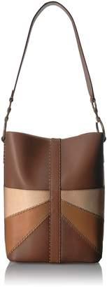 Frye Ilana Color Block Bucket Hobo Leather Bag
